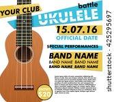 ukulele show poster for your...   Shutterstock .eps vector #425295697