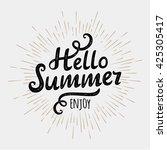 hello summer  typographic... | Shutterstock . vector #425305417