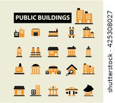 buildings icons  | Shutterstock .eps vector #425308027