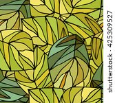 seamless leafy pattern. large... | Shutterstock .eps vector #425309527