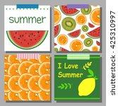 vector set with bright summer... | Shutterstock .eps vector #425310997