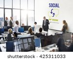 digital blue hud interface... | Shutterstock . vector #425311033