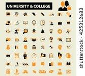 university college icons  | Shutterstock .eps vector #425312683