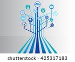self driving smart car... | Shutterstock .eps vector #425317183