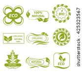 isolated eco logo  elements... | Shutterstock .eps vector #425323567