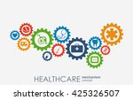 healthcare mechanism concept.... | Shutterstock .eps vector #425326507