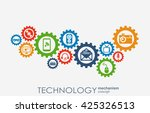 technology mechanism concept.... | Shutterstock .eps vector #425326513