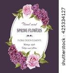 vintage floral greeting card... | Shutterstock . vector #425334127
