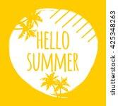 hello summer hand lettering... | Shutterstock .eps vector #425348263