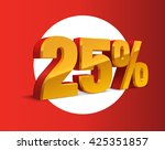 25  percent off  sale... | Shutterstock .eps vector #425351857