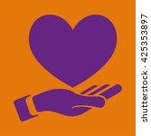 heart in hand icon | Shutterstock .eps vector #425353897