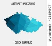 czech republic map in geometric ...   Shutterstock .eps vector #425354977
