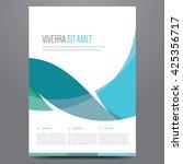 flyer  brochure  poster  annual ... | Shutterstock .eps vector #425356717