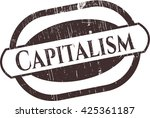 capitalism rubber stamp with... | Shutterstock .eps vector #425361187