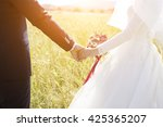 wedding couple hands | Shutterstock . vector #425365207