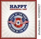happy memorial day badge. usa... | Shutterstock .eps vector #425383027