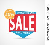 big sale banner and best offer... | Shutterstock . vector #425387053