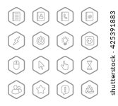gray line web icon set with...