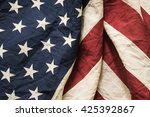 Old American Flag Background...