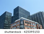 condo buildings and business... | Shutterstock . vector #425395153