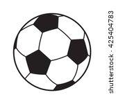soccer ball icon. soccer ball... | Shutterstock .eps vector #425404783