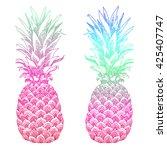 hand drawn illustration of... | Shutterstock .eps vector #425407747
