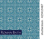 ancient roman and turkish bath... | Shutterstock .eps vector #425415487