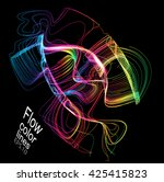 moving colorful lines of... | Shutterstock .eps vector #425415823