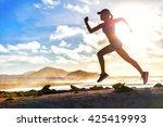 Athlete Runner Trail Running O...