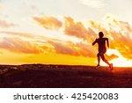 athlete trail running... | Shutterstock . vector #425420083