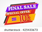 final sale special offer 10  ... | Shutterstock . vector #425433673