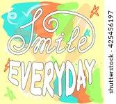 hand lettering poster on hand...   Shutterstock . vector #425456197