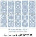 vector set of geometric... | Shutterstock .eps vector #425476957