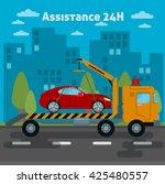 car assistance. roadside... | Shutterstock .eps vector #425480557