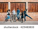 group of young beautiful... | Shutterstock . vector #425483833