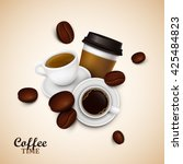 abstract background with coffee | Shutterstock .eps vector #425484823