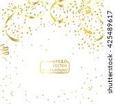 gold confetti celebration | Shutterstock .eps vector #425489617
