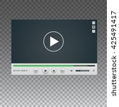 vector template of video player ...