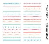 ethnic hand drawn line border... | Shutterstock . vector #425516917