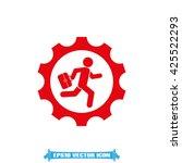 man in gear icon vector... | Shutterstock .eps vector #425522293