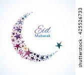 eid mubarak card. ramadan... | Shutterstock .eps vector #425526733