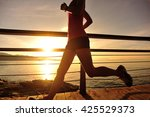 healthy lifestyle sports woman... | Shutterstock . vector #425529373