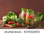 healthy vegetable salad in...   Shutterstock . vector #425532853