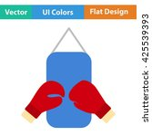 boxing pear and gloves icon....