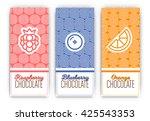 chocolate packaging set  ... | Shutterstock .eps vector #425543353