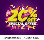 special offer sale concept with ... | Shutterstock .eps vector #425545303