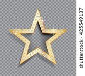 transparent golden star with...   Shutterstock .eps vector #425549137