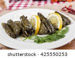 sarma is a turkish traditional... | Shutterstock . vector #425550253
