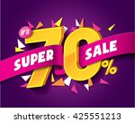 sale concept vector banner with ... | Shutterstock .eps vector #425551213