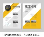 business brochure design.... | Shutterstock .eps vector #425551513